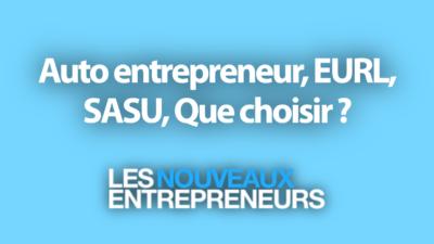 Auto entrepreneur, EURL, SASU, Que choisir ?
