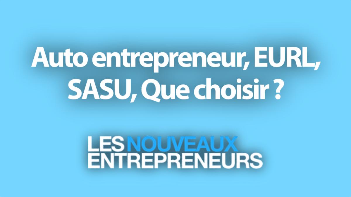 Creer Son Entreprise Auto Entrepreneur Eurl Sasu Que Choisir
